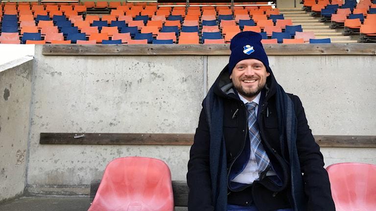 Peter Alexander Eldon är arena- och eventchef på Östers IF