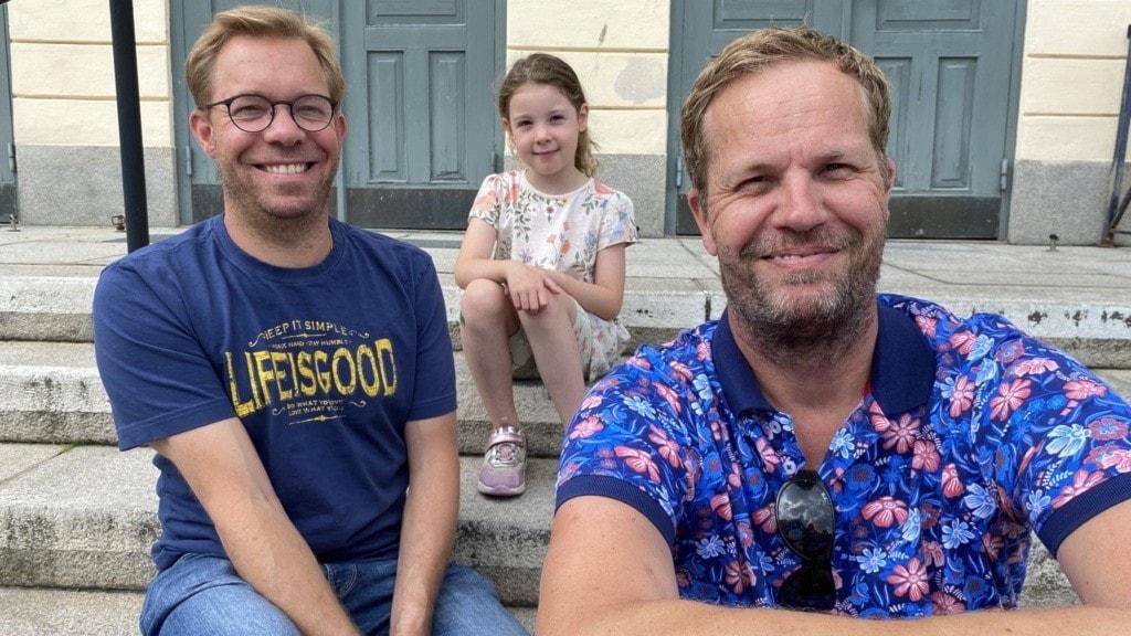 Christian och Mathias Bedrot och dottern Hannah