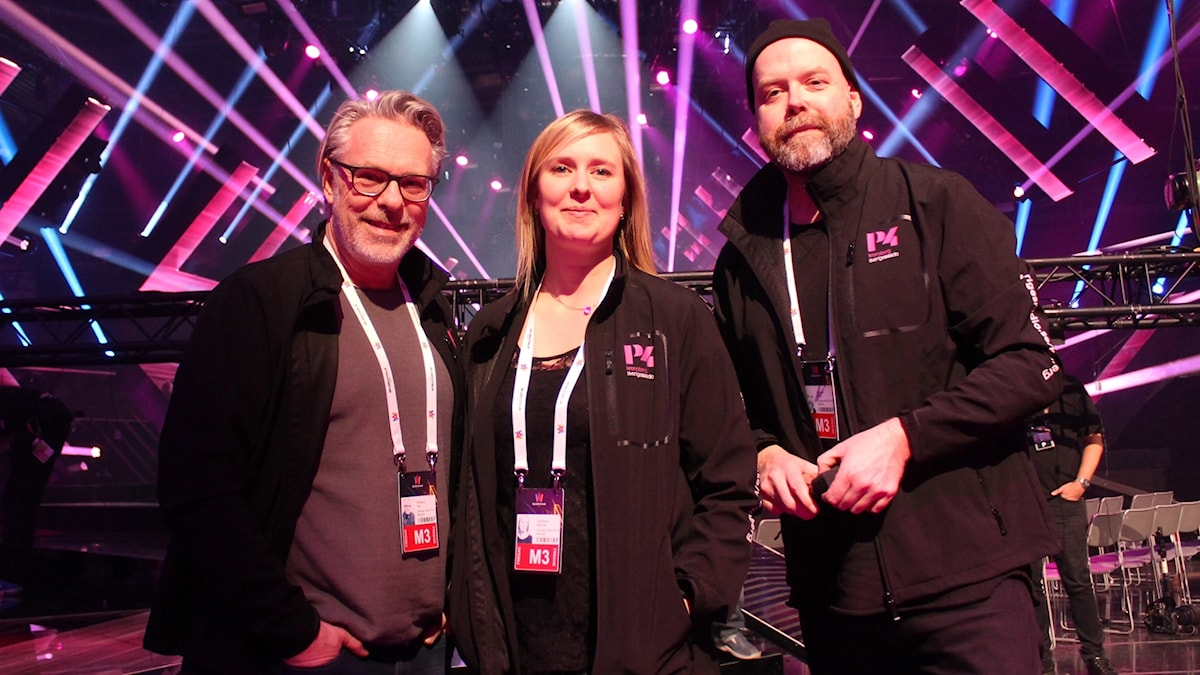 Melodifestivalen 2017, Per Brolléus, Martina Svensson, Jocke Wallgren. Vida Arena.