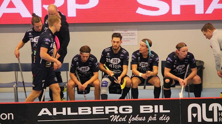 Växjö Vipers bänken deppar efter att Linköping vann.