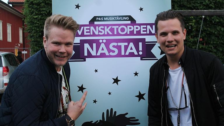 Christian Olsson och Marcus Sjögren i gruppen Kakfolket
