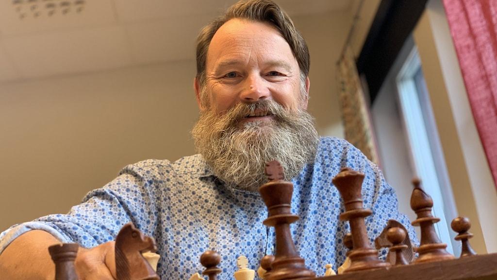 Håkan Jalling, ordförande Växjö Schackklubb.