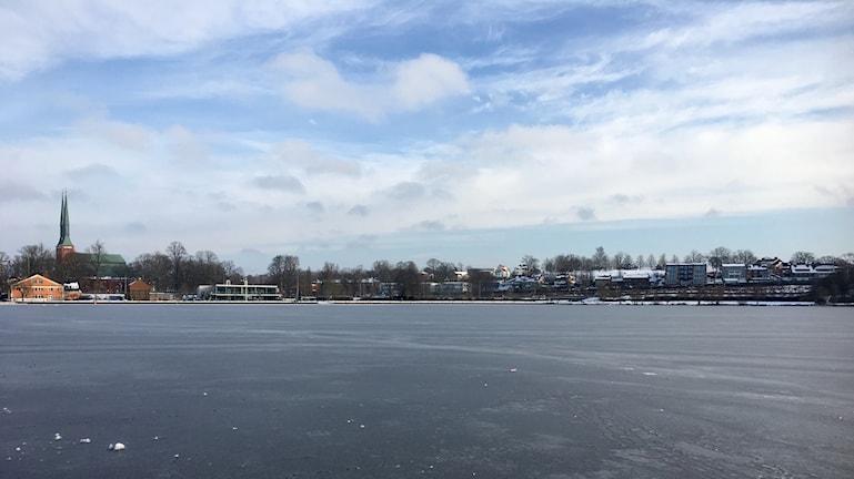 Växjösjön vintertid
