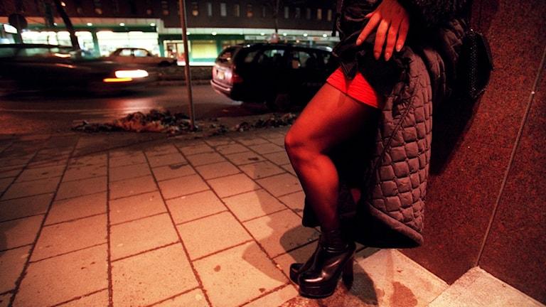 A prostituted woman at Malmskillnadsgatan street.