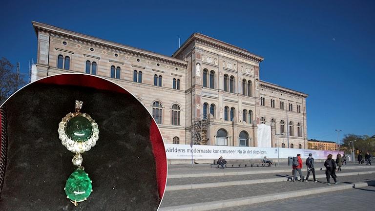 Christina Nilssons halssmycke och Nationalmuseum i Stockholm.