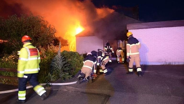 Brand i Växjö.