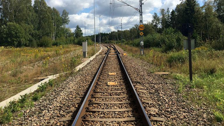 tågräls, järnväg, tåg, Åryd