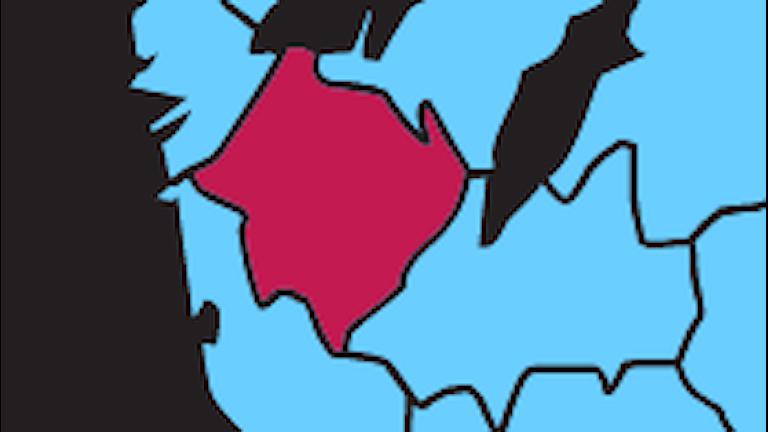 Karta P4 Sjuhärad