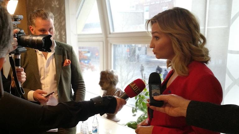 Ebba Busch Thor foto Oscar Ståhl/Sveriges Radio