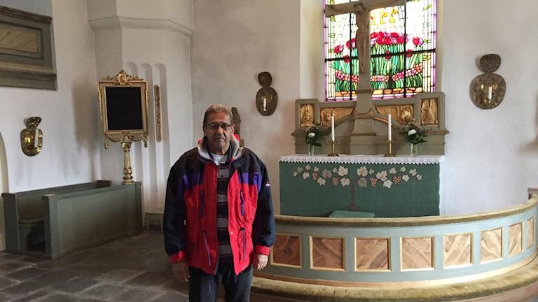 Maher El Gohary från Egypten besöker kyrkan