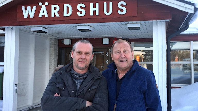 Bernt Ferb och Wolfgang Bay. Foto: Örjan Holmberg, Sveriges Radio.