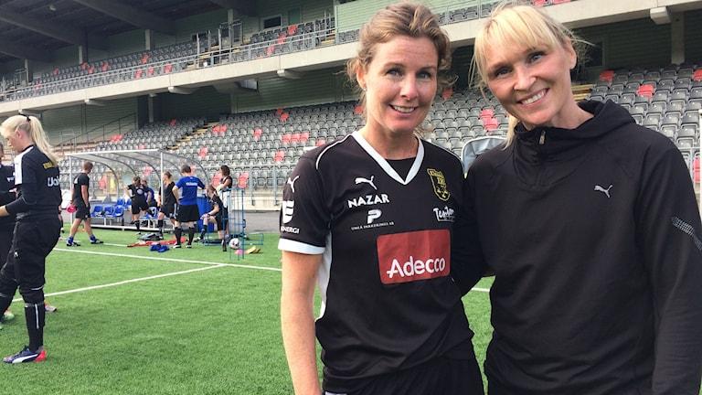 Malin Moström och Frida Österberg. Foto: Linnea Hedelilja