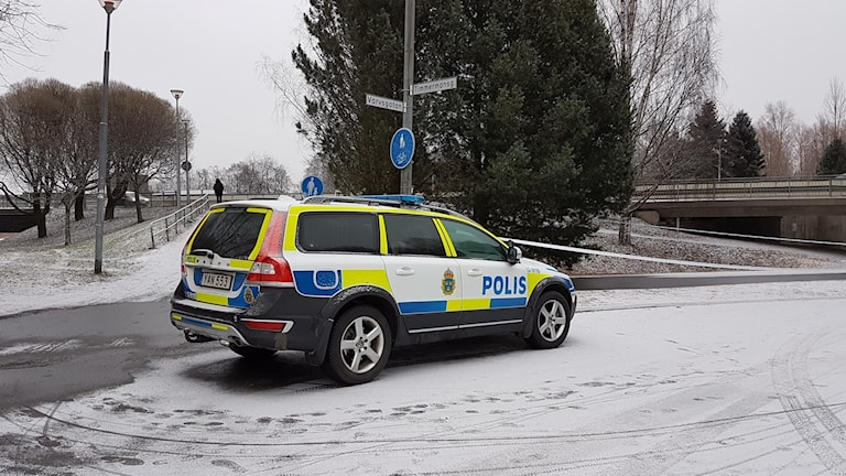 polisbil Kyrkbron Umeå