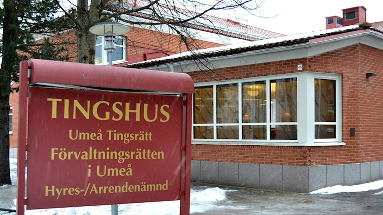 Umeå tingsrätt. Foto: Peter Öberg, Sveriges Radio.