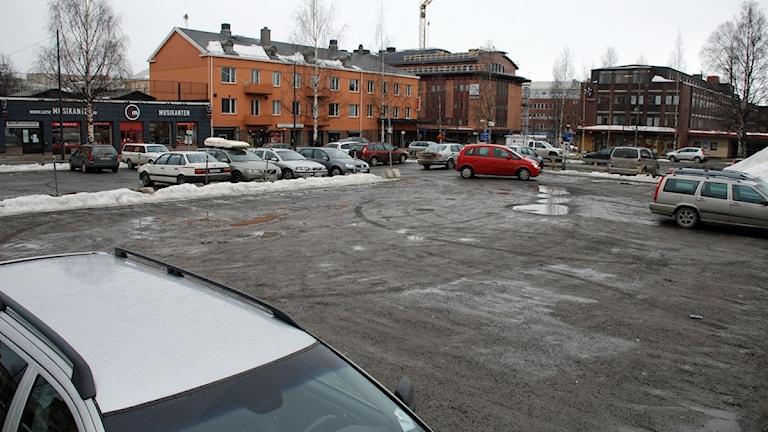 Central parkering i Umeå. Foto: Gunilla Nordlund/SR.