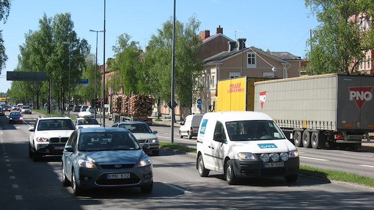 Trafik Västra Esplanaden Umeå