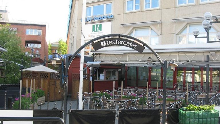 TC, Teatercafét, ligger i Umeå folkets hus. Foto: Lennart Odhström/SR.