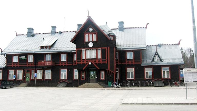 Vännäs stationshus. Foto Inga Korsbäck/SR Västerbotten.