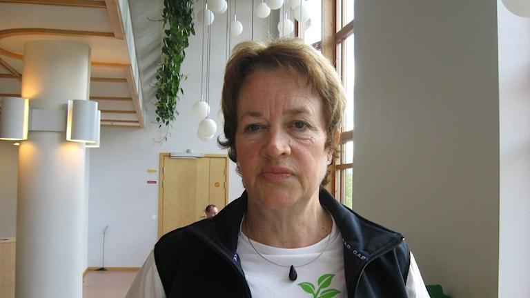 Birgitta Ljungberg, ordförande för Lärarförbundets Umeåavdelning. Foto: Lillemor Strömberg/SR.