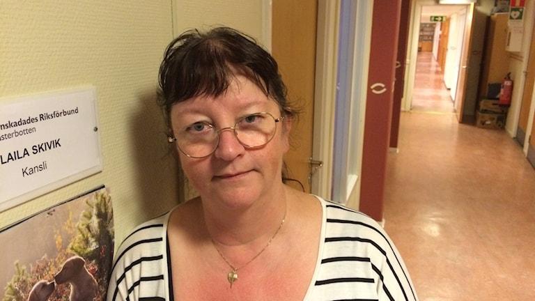 Laila Skivik, kanslist på Synskadades Riksförbund, avdelning Västerbotten.