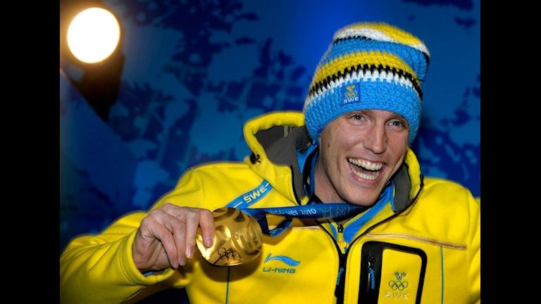 Björn Ferrys OS-guld spelar roll inför den kommande vintersäsongen. Foto: Janerik Henriksson/Scanpix.