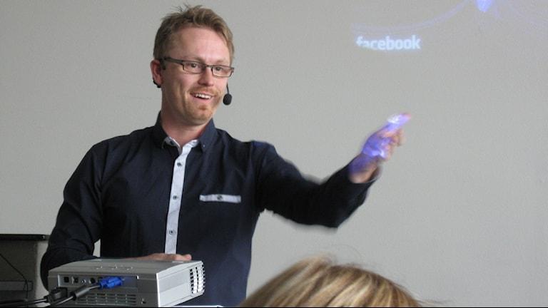 Andreas Skog, Region Västerbottens mediacenter. Foto: Lillemor Strömberg/SR