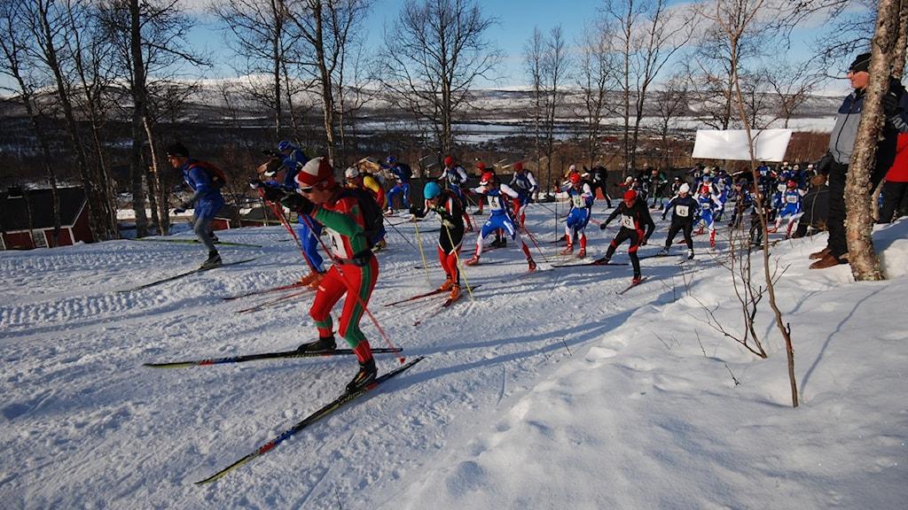 Kungsledenrännet, Foto: Mikael Lindberg/SR.