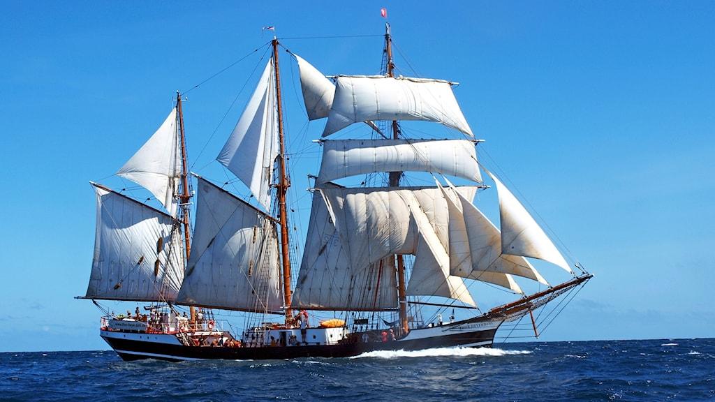 Det tremastade segelfartyget Thor Heyerdahl. Foto: KUS-Projekt