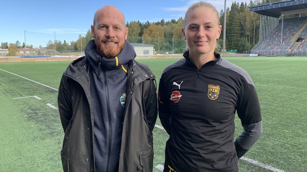 Johan Classon, Svenska Fotbollsförbundet och Tove Enblom, målvakt i Umeå IK.