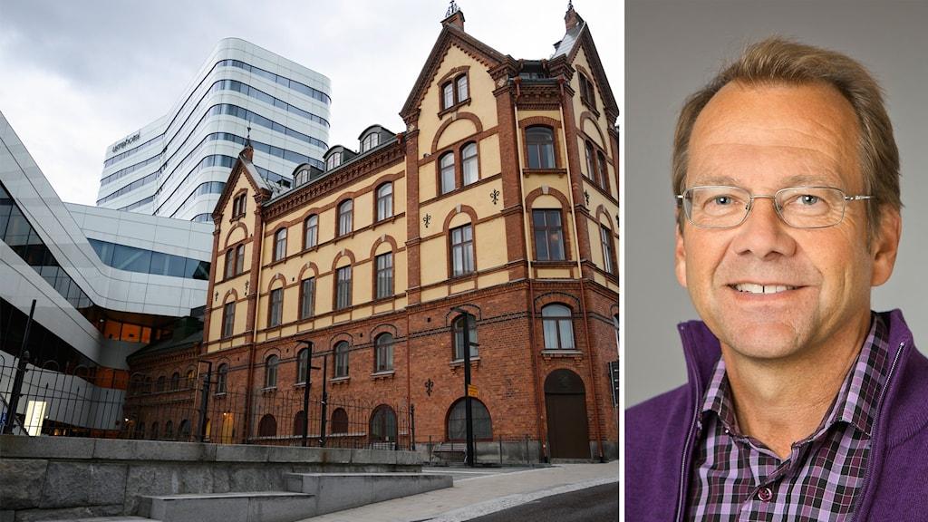Umeå genrebild och Bertil Forsberg, professor miljömedicin