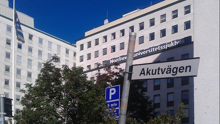 Norrlands universitetssjukhus i Umeå. Foto: Lillemor Strömberg/SR.