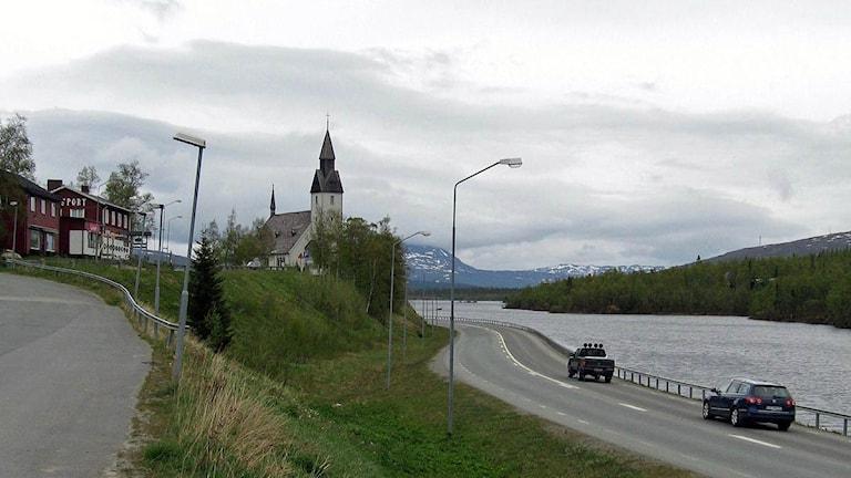 Vy över Tärnaby, Foto: Örjan Holmberg/SR.