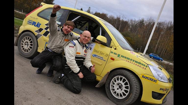 Nils Fransson tog silver när Rally-SM avslutades i helgen. Foto: Frida Lundgren.