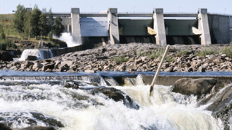 Arkivbild, Stornorrfors vattenkraftverk.