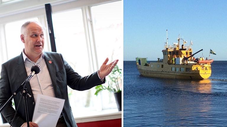Jonas Sjöstedt V och Capella foto Adam Ihse/TT och Sjöfartsverket