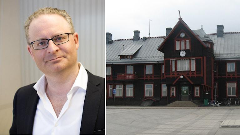David Feltenius och tågstationen i Vännäs
