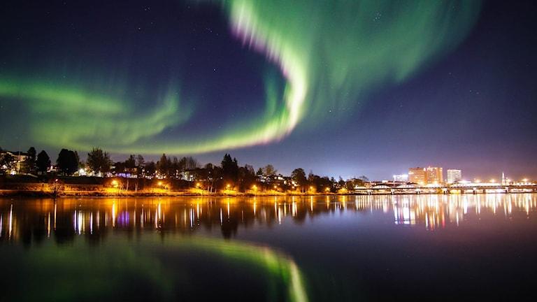 Norrsken över Umeå