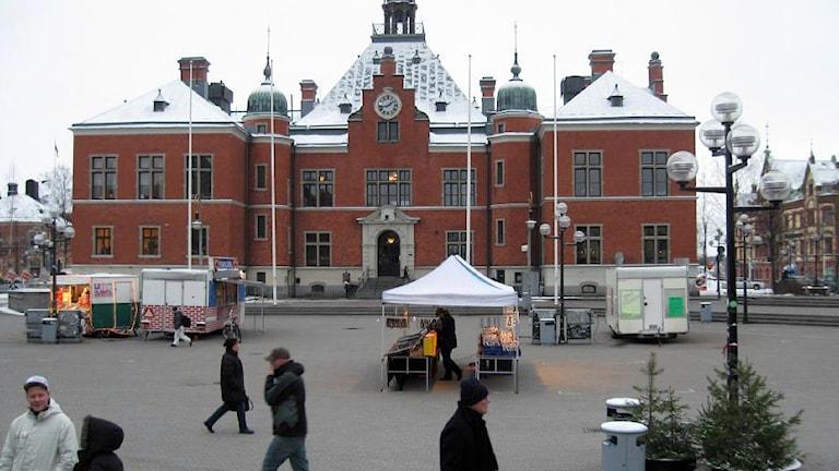 Rådhustorget i Umeå, Foto: Peter Öberg/SR.
