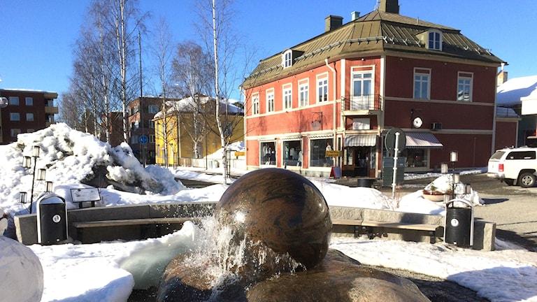 Kulan på Torget i Lycksele. Foto: Peter Öberg, Sveriges Radio.