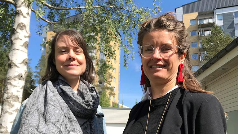 Anna Werner och Anna Ericsson på Diskrimineringsombudsmannen. Foto: Peter Öberg, Sveriges Radio.