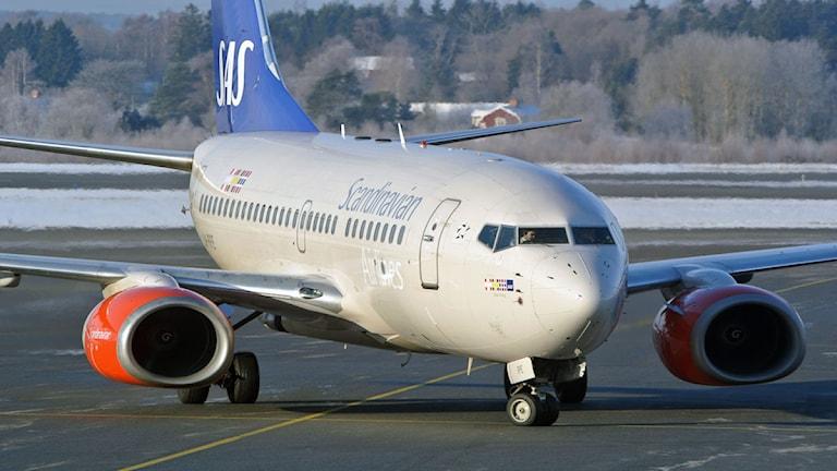 Flygplan SAS. Foto: Johan Nilsson/Scanpix