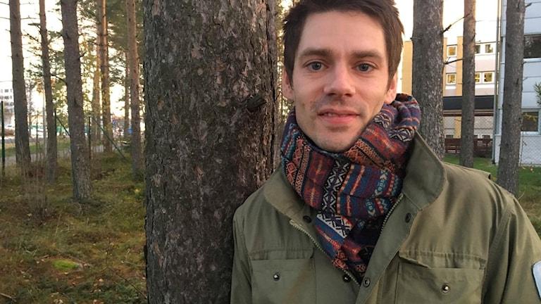 Petter Lämås, författare och friluftsfantast Foto: Madeleine Harrati/SR Västerbotten