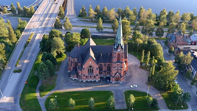 Umeå stadskyrka, Foto: Anders Wikström/SR.