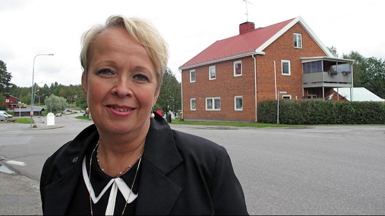 Maria Bahlenberg är näringlivsutvecklare i Bjurholms kommun. Foto: Anna Burén/SR.
