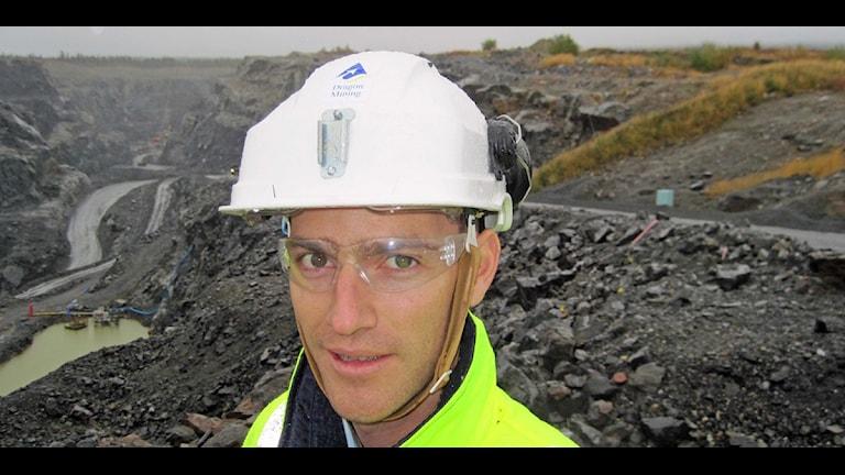 Josh Stewart, vd för gruvbolaget Dragon Mining Sweden AB. Foto: Örjan Holmberg/Sveriges Radio