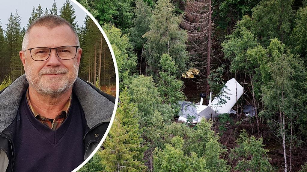 Pelle Scherdin, Svenska fallskärmsförbundet. Foto: Privat och Erik Abel/TT