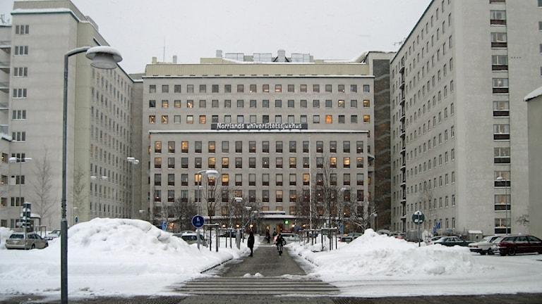Norrlands universitetssjukhus i Umeå. Foto: Agneta Johansson/SR.