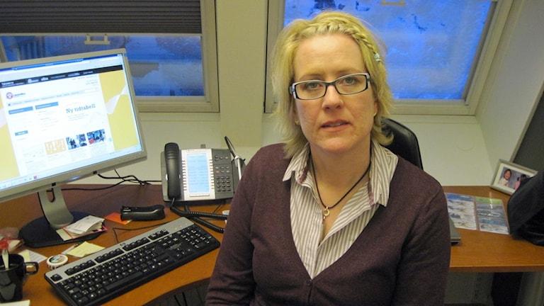 Harriet Söder, vd på Länstrafiken i Västerbotten Foto: Edward Karp / SR