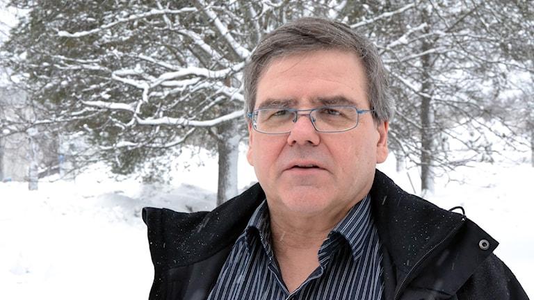 Åke Nilsson, Socialdemokratiskt kommunalråd i Vilhelmina. Foto: Anna Burén/SR.