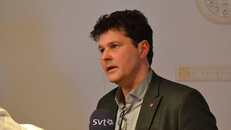 Socialdemokratiska landstingsrådet Peter Olofsson. Foto: Anders Wikström/Sveriges Radio.